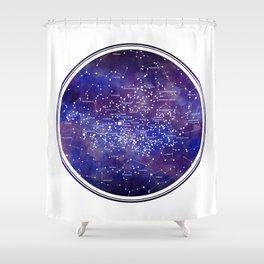 Star Map IV Shower Curtain