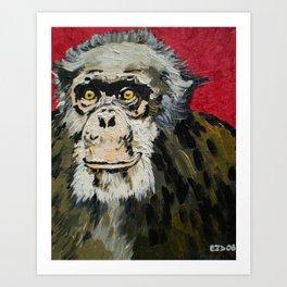 Billy Joe, the Chimpanzee (1969-2006) Art Print