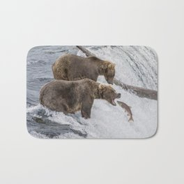 The Catch - Brown Bear vs. Salmon Bath Mat