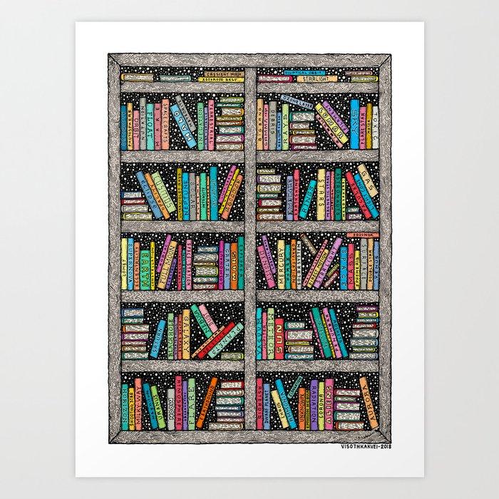 SPACE LIBRARY - COLORED - Visothkakvei Kunstdrucke