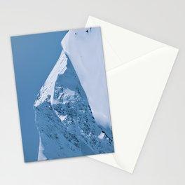 Winter Mountains in Glacier Blue - Alaska Stationery Cards
