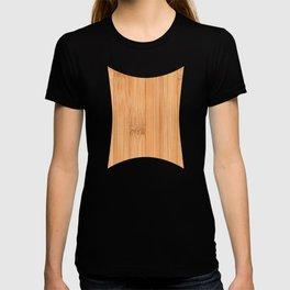 Cool elegant light brown bamboo wood print T-shirt