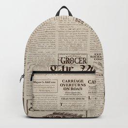 Vintage Newspaper Backpack