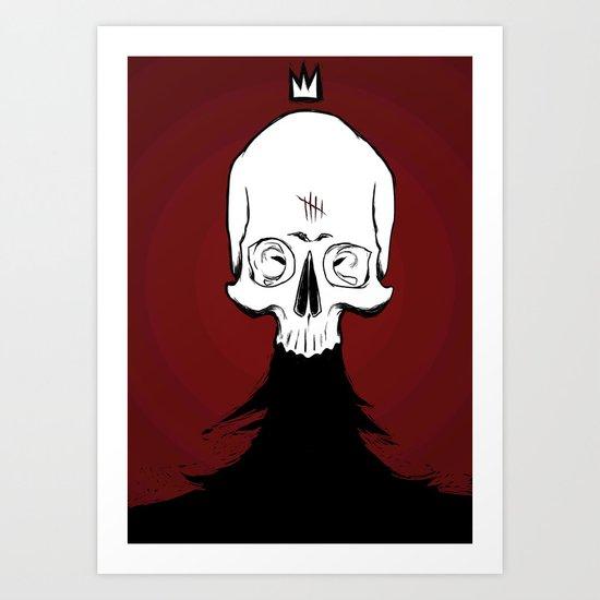 Nevar, King of the Dead Art Print