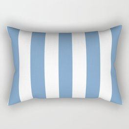 Cerulean frost azure - solid color - white vertical lines pattern Rectangular Pillow