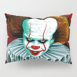 The Dancing Clown - Pennywise IT - Vector - Stephen King Character Pillow Sham