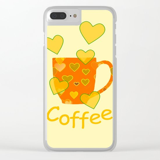 Coffee Fanatic Clear iPhone Case