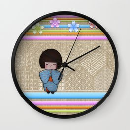 kokeshi seigai Wall Clock