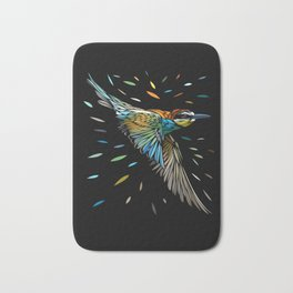 Tribal tropical sparrow Bath Mat