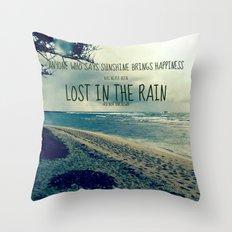 RAINING ON THE NORTH SHORE  Throw Pillow