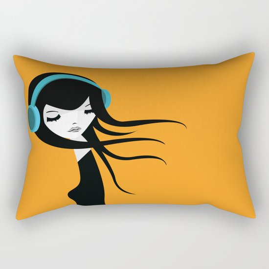 Flow In The Music Rectangular Pillow