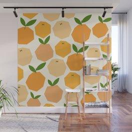 Orange Wall Mural