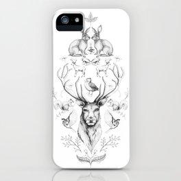 Animals symmetry symphony iPhone Case