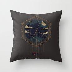 The Dark Woods Throw Pillow