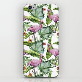 Flamingo Jungle #society6 #buyart iPhone Skin