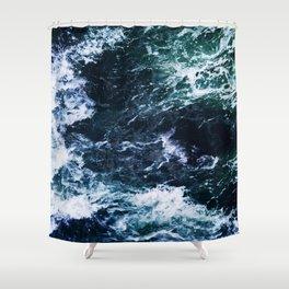Wild ocean waves Shower Curtain