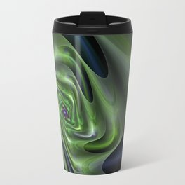 Abstract Labyrinth fractal . Travel Mug