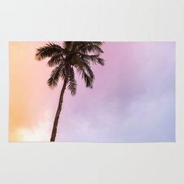 Vintage Tropical Palm Tree Rug