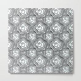 'I Love You Umlaut' Valentine's Pattern Metal Print
