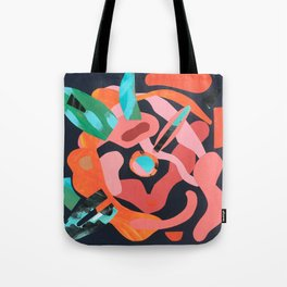 Exploded Rose Tote Bag