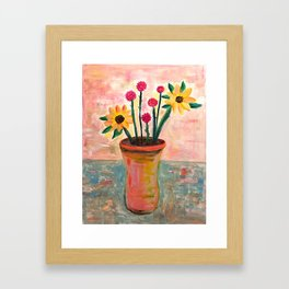Fan's Daily life series-Happiness flowers in Palo Alto Framed Art Print