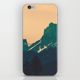 Cascade Mountains Sunset iPhone Skin