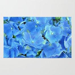 Elegant Blue Hydrangea Rug