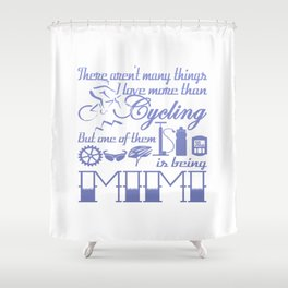 Cycling Mimi Shower Curtain