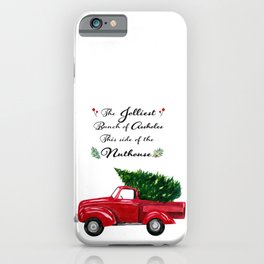 The Jolliest Bunch - Funny Holiday Watercolor Painting iPhone Case
