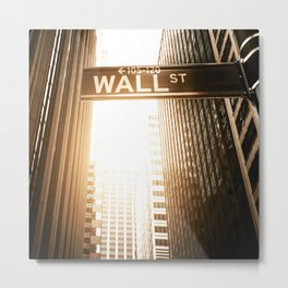 wall street in nyc  Metal Print