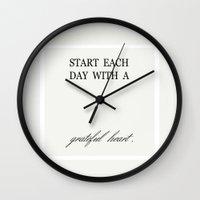 grateful dead Wall Clocks featuring GRATEFUL by SpekleDesign