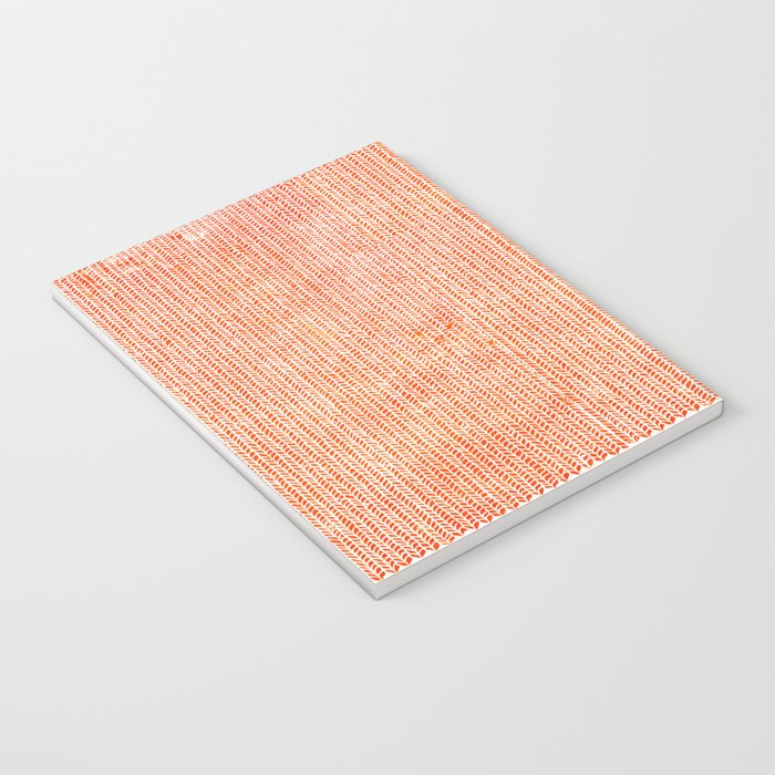 Stockinette Orange Notebook
