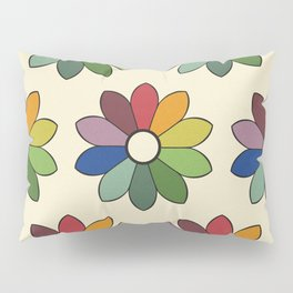Flower pattern based on James Ward's Chromatic Circle Pillow Sham