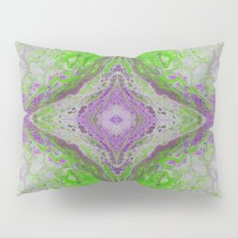 Psycho - Green Slime and Purple Fancy in a Reptile Universe by annmariescreations Pillow Sham