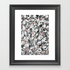 White and Grey Framed Art Print
