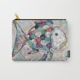 Rainbow Fish Collage Carry-All Pouch
