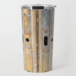 Rusty excavator caterpillar Travel Mug