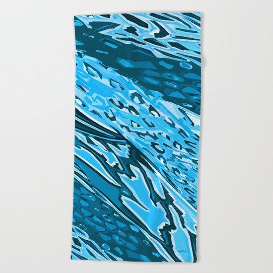 Water Skinning Beach Towel