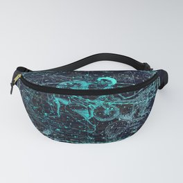 Aquarius, Constellation map, Zodiac, Sign sky, Stars, Universe, astrology, astrological Fanny Pack
