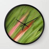 grass Wall Clocks featuring Grass by Paul Kimble