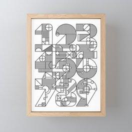 Geo Numbers Collage Framed Mini Art Print