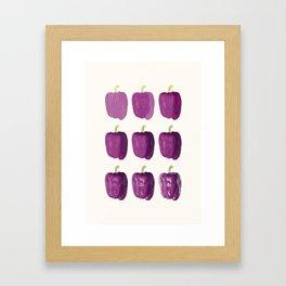 purple bell pepper 2 Framed Art Print