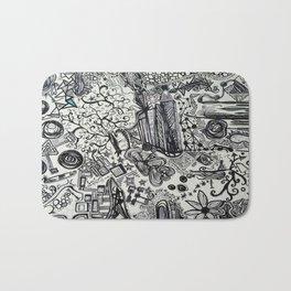 Black/White #2 Bath Mat