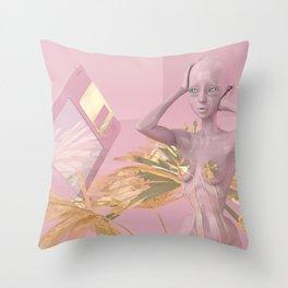Pastel Humanoid Diskette Throw Pillow