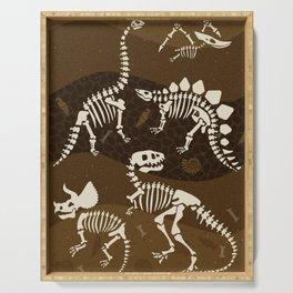 Fossil Dinosaur Pattern Serving Tray