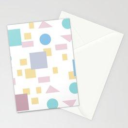 Bauhaus geometric modern shapes Stationery Cards