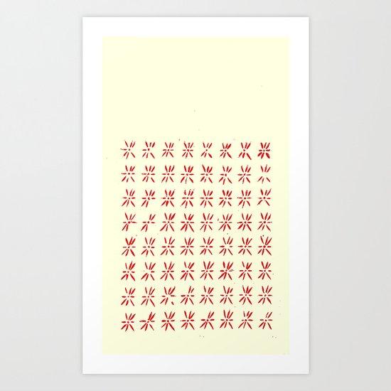 LCD red Art Print
