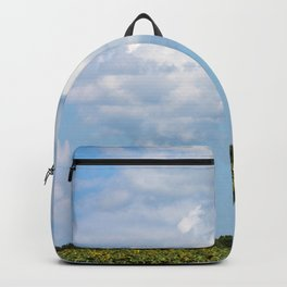 Field of Sunflowers Vertical Backpack