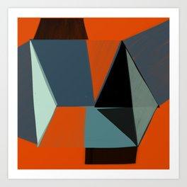 Squared Diamonds 3 Art Print