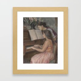 Piano Lessons Framed Art Print